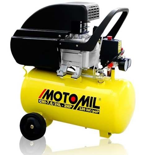 Motocompressor 7,6 Pés 24 Litros MOTOMIL-CMI-7,6/24L